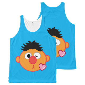 Ernie Face Throwing a Kiss All-Over Print Tank Top