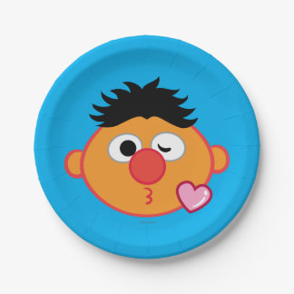 Ernie Face Throwing a Kiss Paper Plate