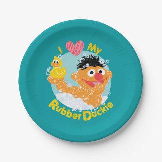 Ernie Loves Duckie 7 Inch Paper Plate