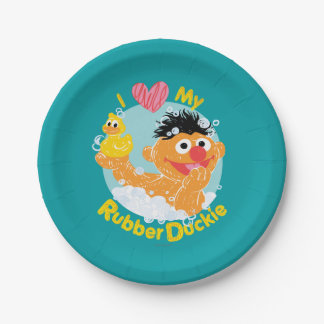 Ernie Loves Duckie Paper Plate