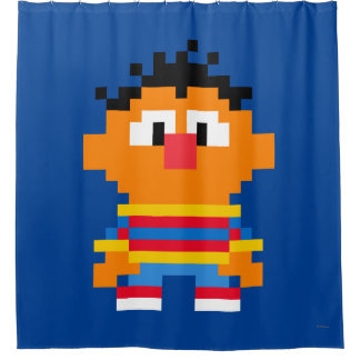 Ernie Pixel Art Shower Curtain