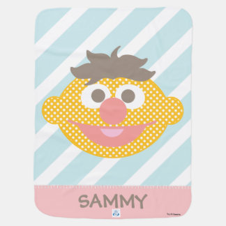 Ernie Polka Dot Big Face | Add Your Name Baby Blanket