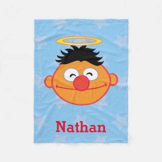 Ernie Smiling Face with Halo | Add Your Name Fleece Blanket