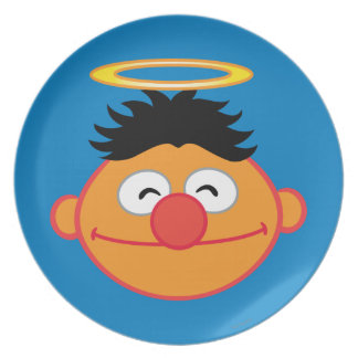 Ernie Smiling Face with Halo Dinner Plates