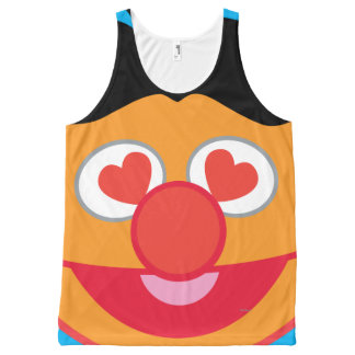 Ernie Smiling Face with Heart-Shaped Eyes All-Over Print Tank Top