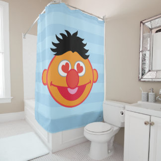 Ernie Smiling Face with Heart-Shaped Eyes Shower Curtain