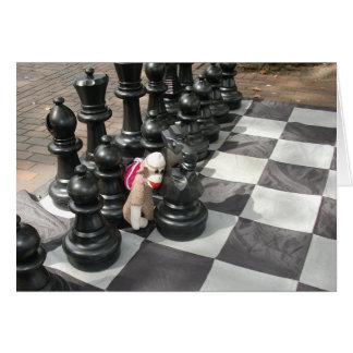 Ernie the Sock Monkey Chess Note Card