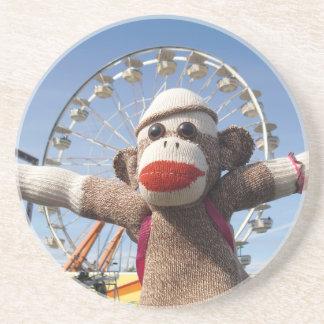 Ernie the Sock Monkey Coaster