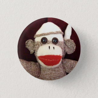 Ernie the Sock Monkey Face Pin
