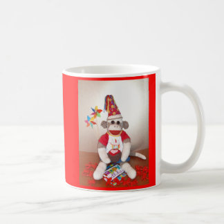 Ernie the Sock Monkey Happy Birthday Mug