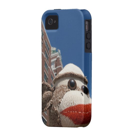 Ernie the Sock Monkey in the City iPhone 4 Case