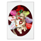 Ernie the Sock Monkey Love Valentine's Day Card