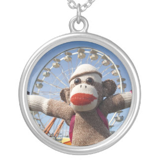 Ernie the Sock Monkey Necklace - at the fair