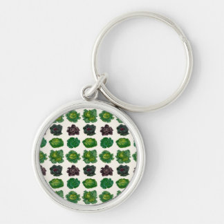 Ernst Benary's Cabbage Varieties Silver-Colored Round Key Ring