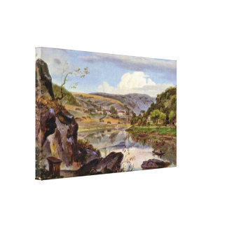 Ernst Frick - Stift Neuburg and Neckar Valley Gallery Wrap Canvas