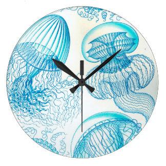 Ernst Haeckel Leptomedusae jellyfish Large Clock