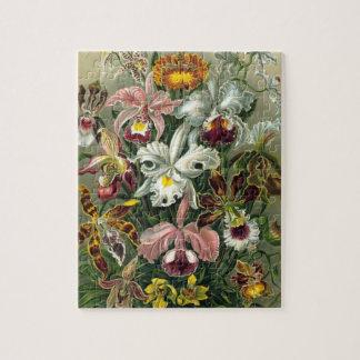 Ernst Haeckel Orchids, Vintage Rainforest Flowers Jigsaw Puzzle