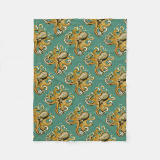 Ernst Haeckel's Octopus Fleece Blanket