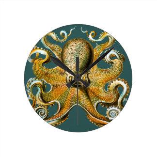 Ernst Haeckel's Octopus Round Clock
