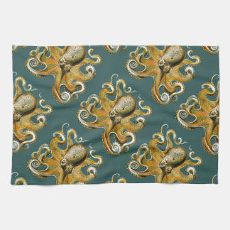 Ernst Haeckel's Octopus Tea Towel