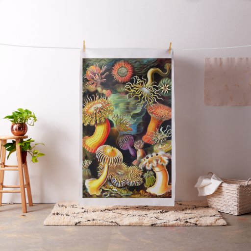 Ernst Haeckel Sea Anemones Vintage Art Fabric