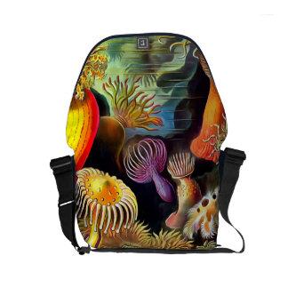 Ernst Haeckel Sea Anemones Vintage Art Messenger Bags