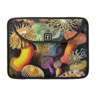 Ernst Haeckel Sea Anemones Vintage Art Sleeve For MacBooks