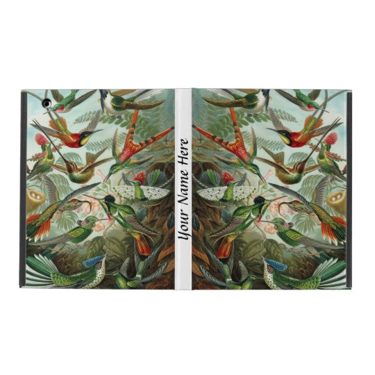Ernst Haeckel vibrant and colourful hummingbirds iPad Folio