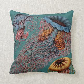 Ernst Haeckel's Disco Medusae Cushion