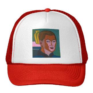 Ernst Kirchner-Head of the Painter (Self-portrait) Mesh Hat