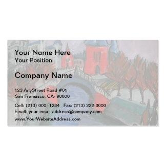 Ernst Kirchner- Red Elisabeth Riverbank, Berlin Business Card Template