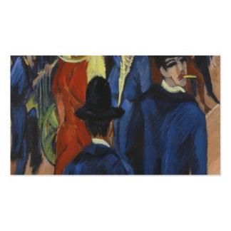 Ernst Ludwig Kirchner- Berlin Street Scene Business Card Template