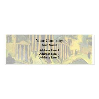 Ernst Ludwig Kirchner- Brandenburg Gate in Berlin Business Card Templates