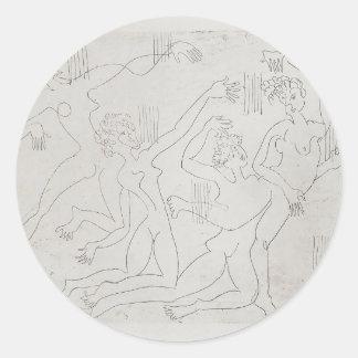 Ernst Ludwig Kirchner: Dance Shool Round Sticker