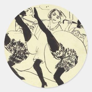 Ernst Ludwig Kirchner: Hamburg Dancers Round Sticker