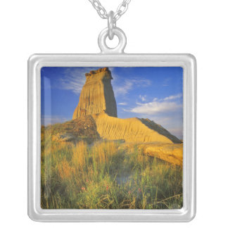 Eroded Monument in the Little Missouri Silver Plated Necklace