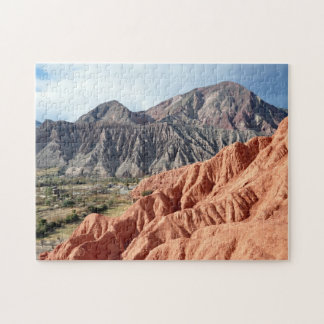 Eroded Mountain Range In Salta Province Jigsaw Puzzle