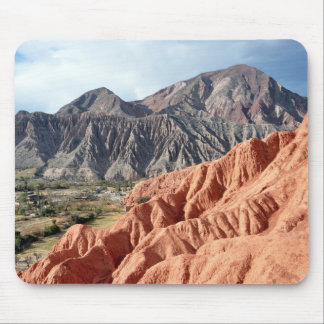 Eroded Mountain Range In Salta Province Mouse Mat