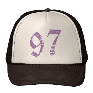 Eroded Number 97 Cap