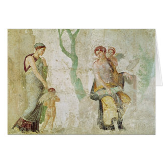 Eros being punished in the presence of Aphrodite Card