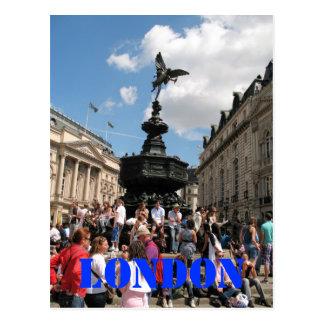 Eros Piccadilly Circus London UK postcard