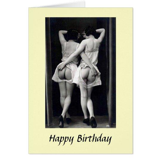 Erotic Birthday Card - Rear View