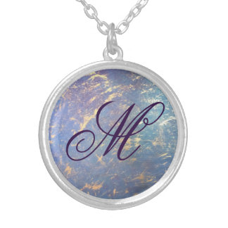 Erratic Bling | Monogram Watercolor Rainbow Gold Silver Plated Necklace