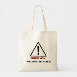 Error 404 Costume Not Found Budget Tote Bag