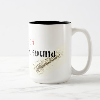 Error 404: Gender Not Found Two-Tone Coffee Mug