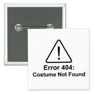 Error 404 Halloween Costume Not Found 15 Cm Square Badge