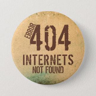 Error 404 ... not found. 7.5 cm round badge