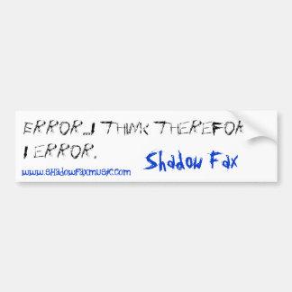 error bumper sticker