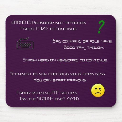 Error Messages mousepad