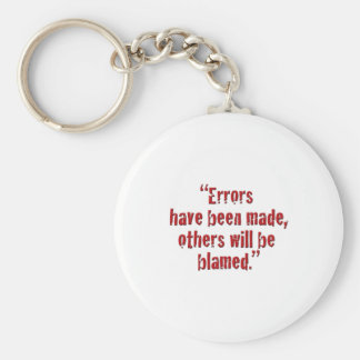 """Errors have been made... Basic Round Button Key Ring"